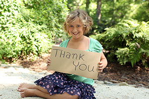 The Good Manners of Thank You: Push the Envelope