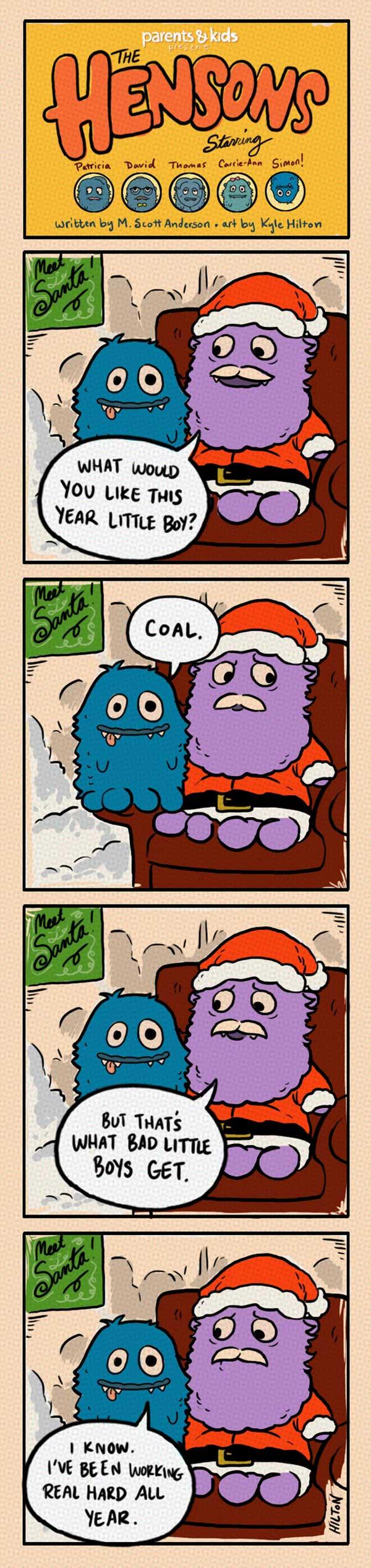 The Hensons: Santa Visit