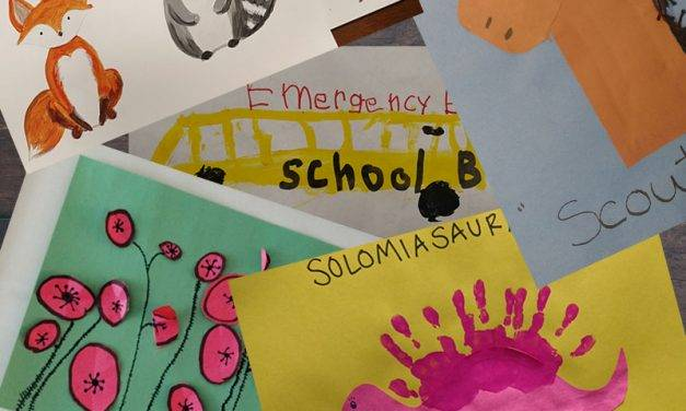 Organizing Chaos: Kids' School Papers and Art Projects