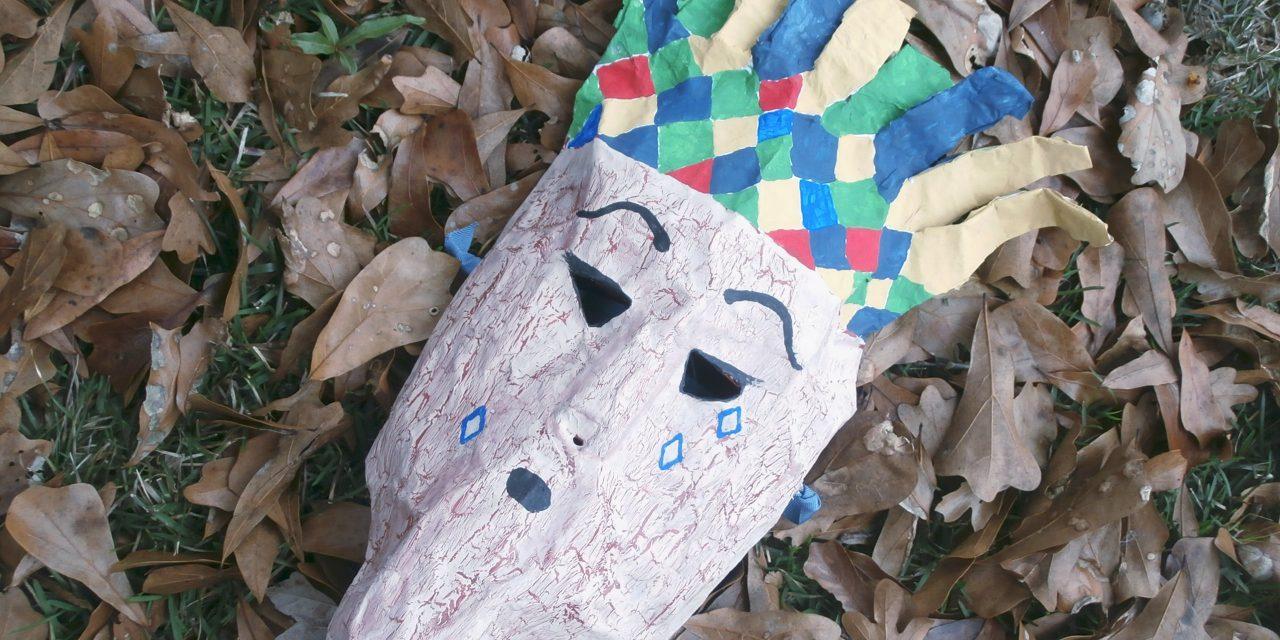 Paper Mache Halloween Story Masks