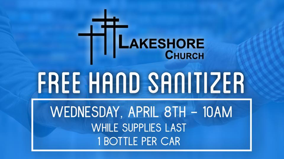 Free Hand Sanitizer While Supplies Last