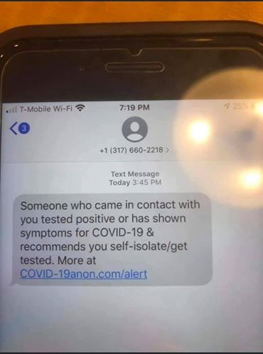 Police Department Warns Public to Not Click Links in Scam COVID-19 Text Messages