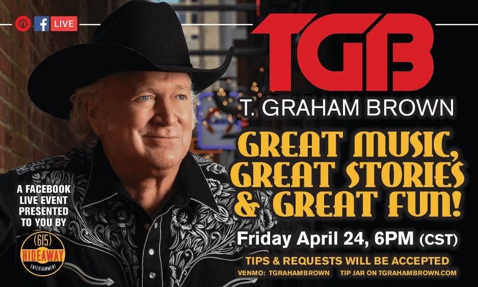T. Graham Brown Virtual Facebook Concert This Friday, April 24