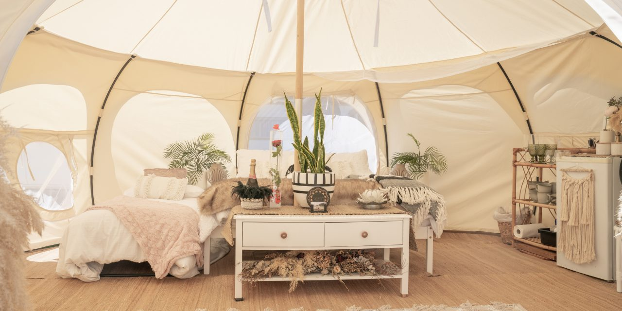 Glamping company creates space for healthcare workers to sleep outdoors