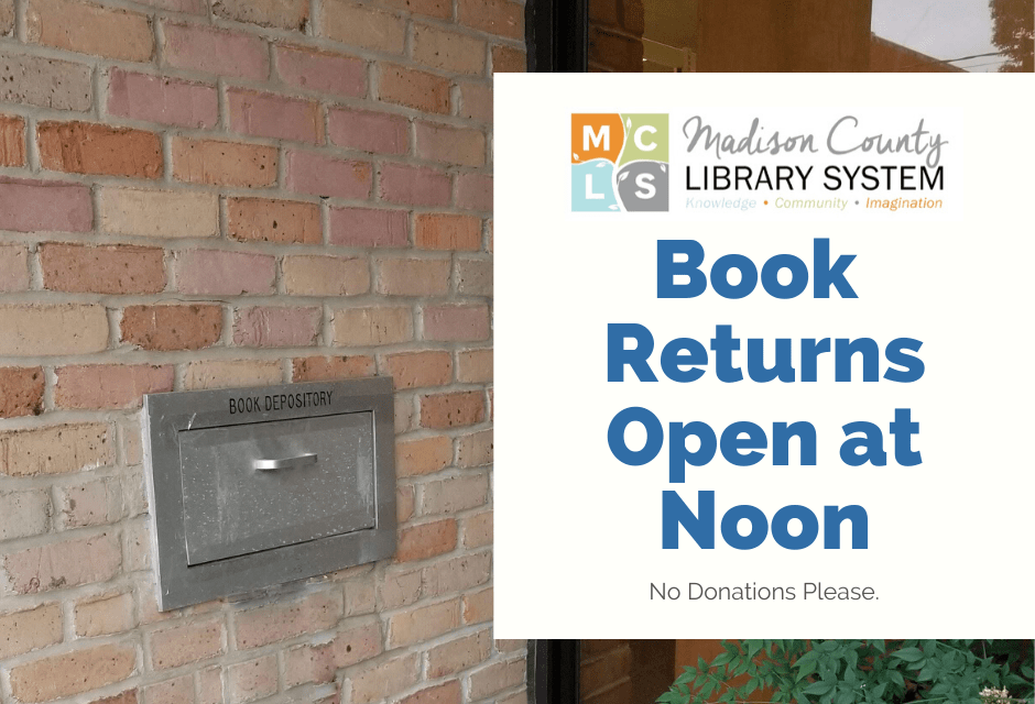 Madison County Library System Opens Book Returns