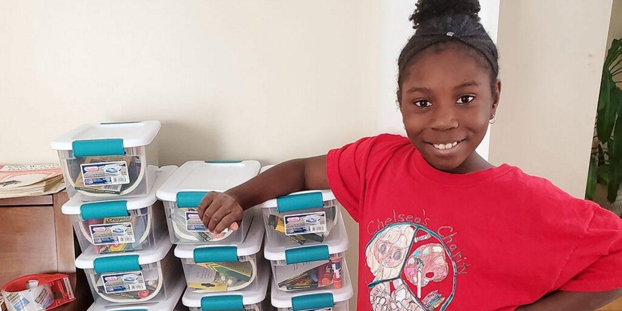 Ten Year Old Spearheads Art Kit Drive