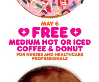 Dunkin' Donuts Offers Freebies to Healthcare Workers This Wednesday