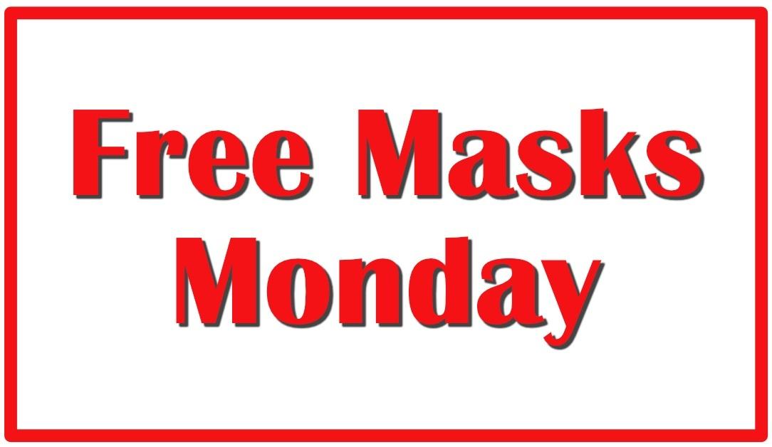 Free Masks in Pascagoula Monday, June 1