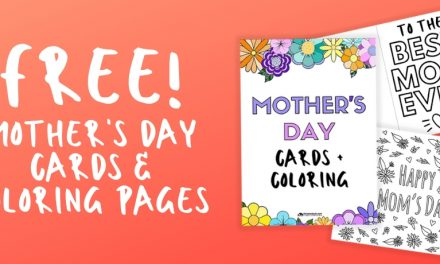 Coloring Sheets and Cards for Mother's Day