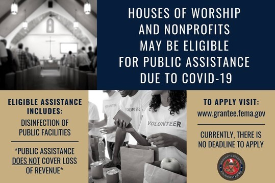 Public Assistance for Houses of Worship/Nonprofits