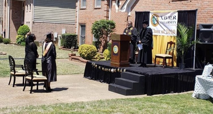 Father Builds Stage for Graduation Ceremony at Home