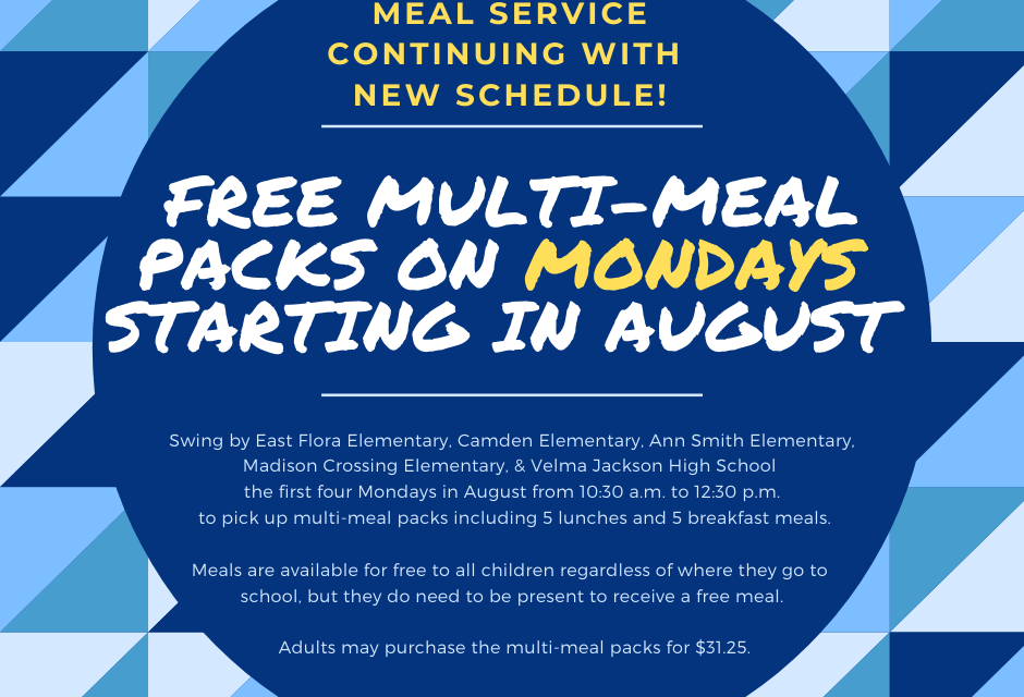 Madison County Schools Offer Meal Packs on Mondays This Month