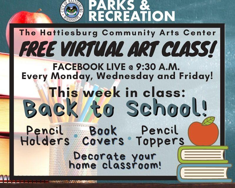 Free Virtual Art Classes From Hattiesburg