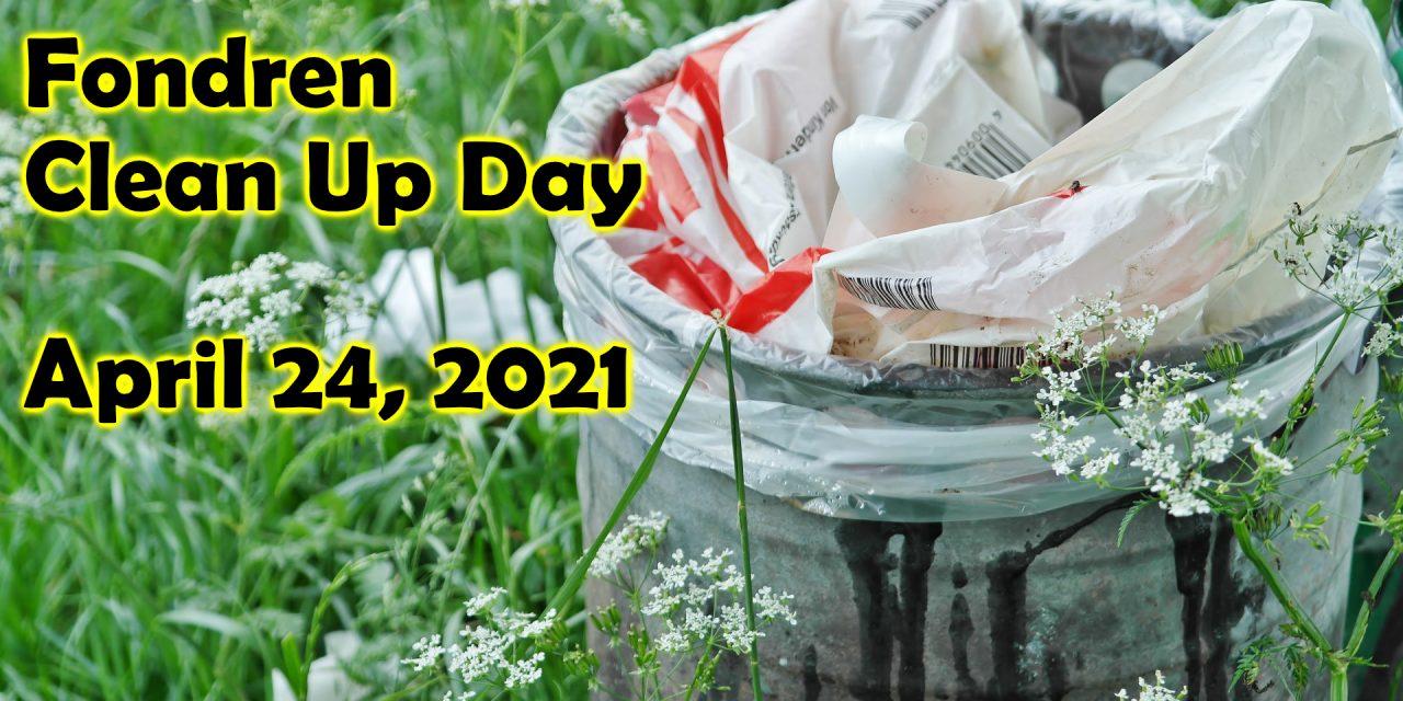 Fondren Clean Up Day April 24