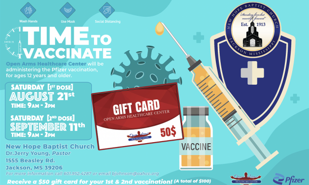 Open Arms Healthcare Center Provides COVID vaccines and Vaccination Drive Thru Event in Jackson Aug. 21